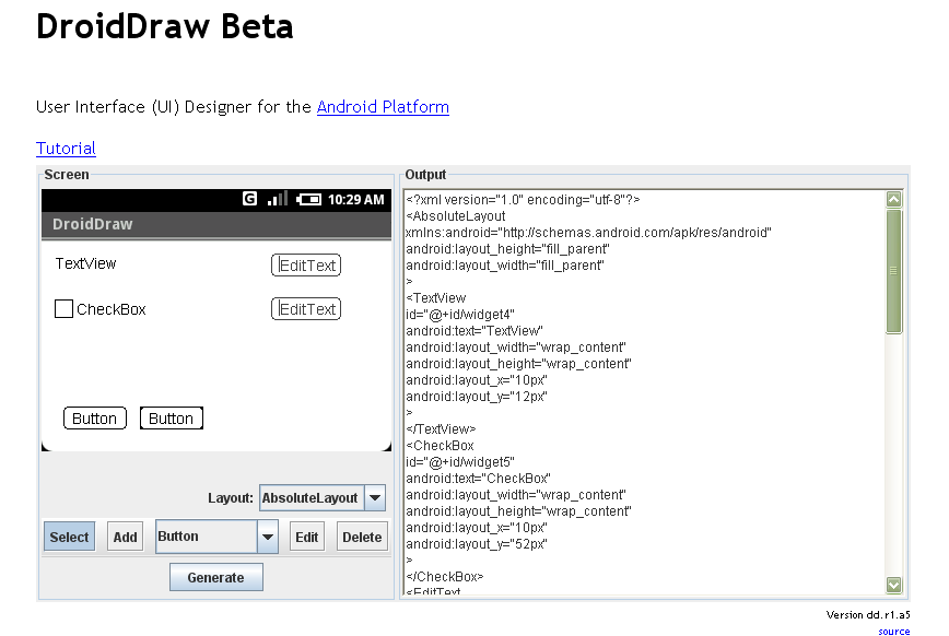 DroidDraw in Action